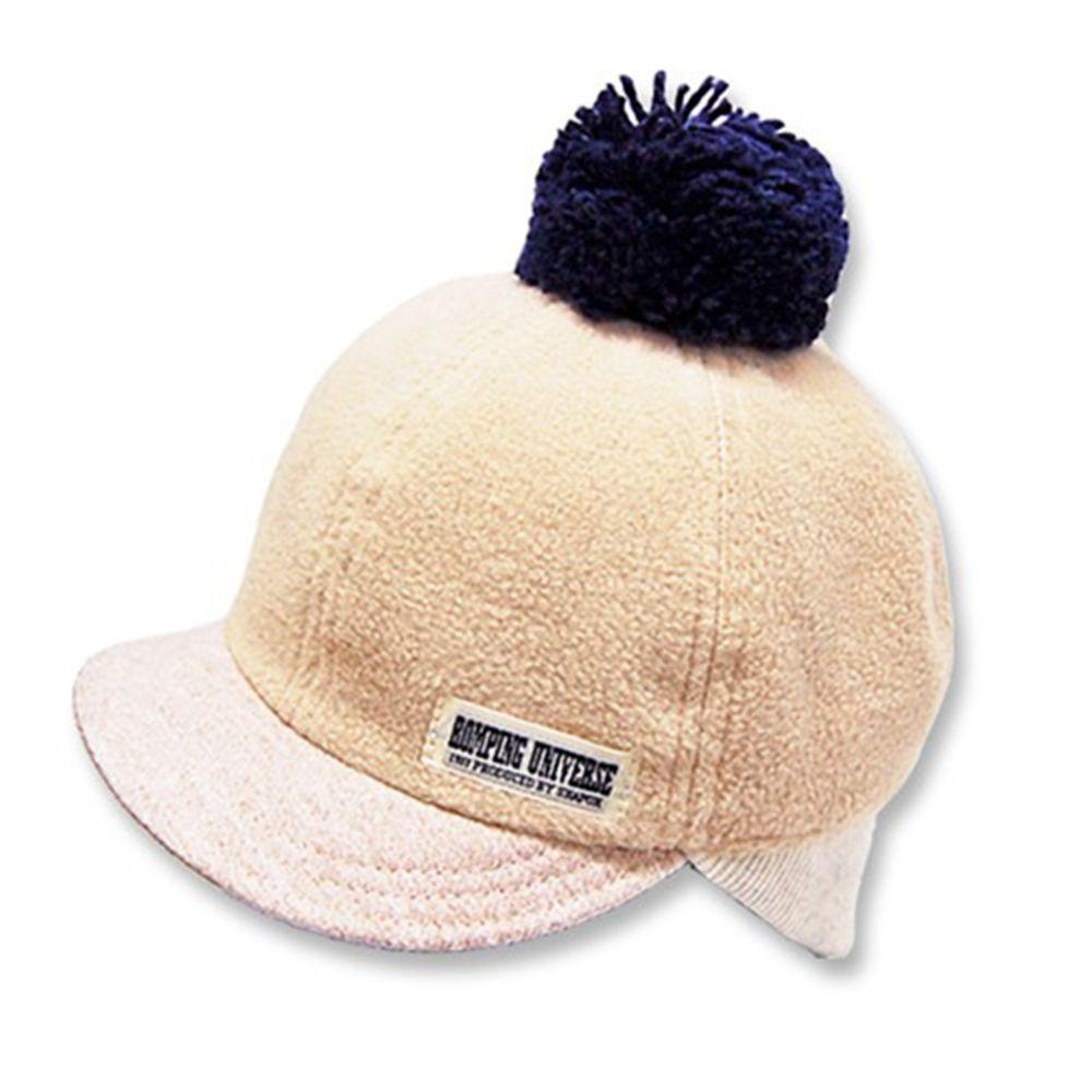 日本 ROMPING UNIVERSE - 可愛保暖帽-小童款-棒球帽_米色-93-2001