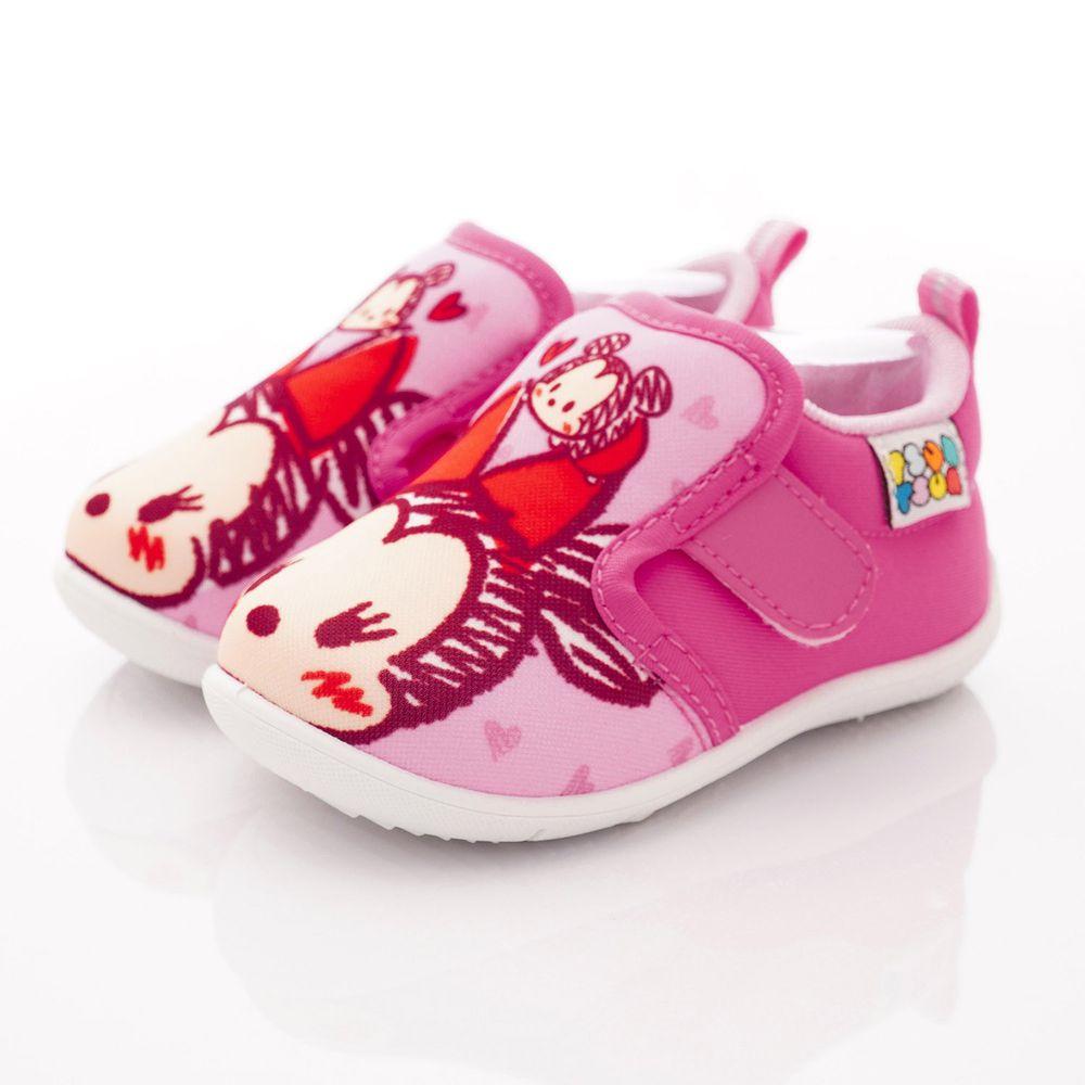 Disney - TSUMTSUM 大LOGO休閒鞋(中小童段)-桃