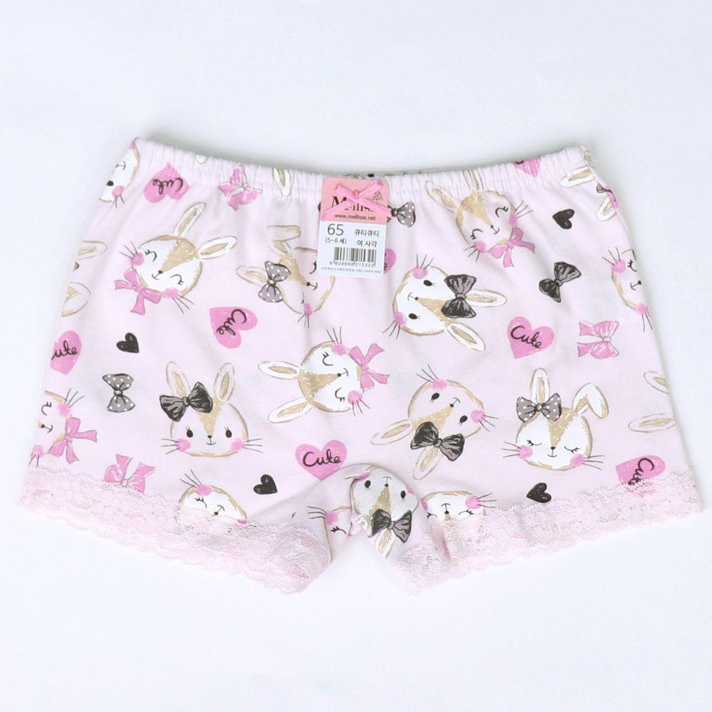韓國 Mellisse - 純棉四角褲(女寶)-可愛兔兔
