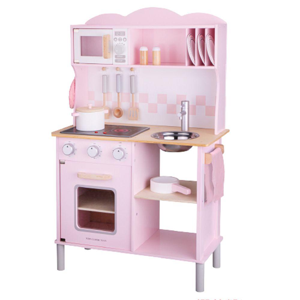荷蘭 New Classic Toys - 【超人氣推薦】聲光小主廚-櫻花粉-(含配件12件)