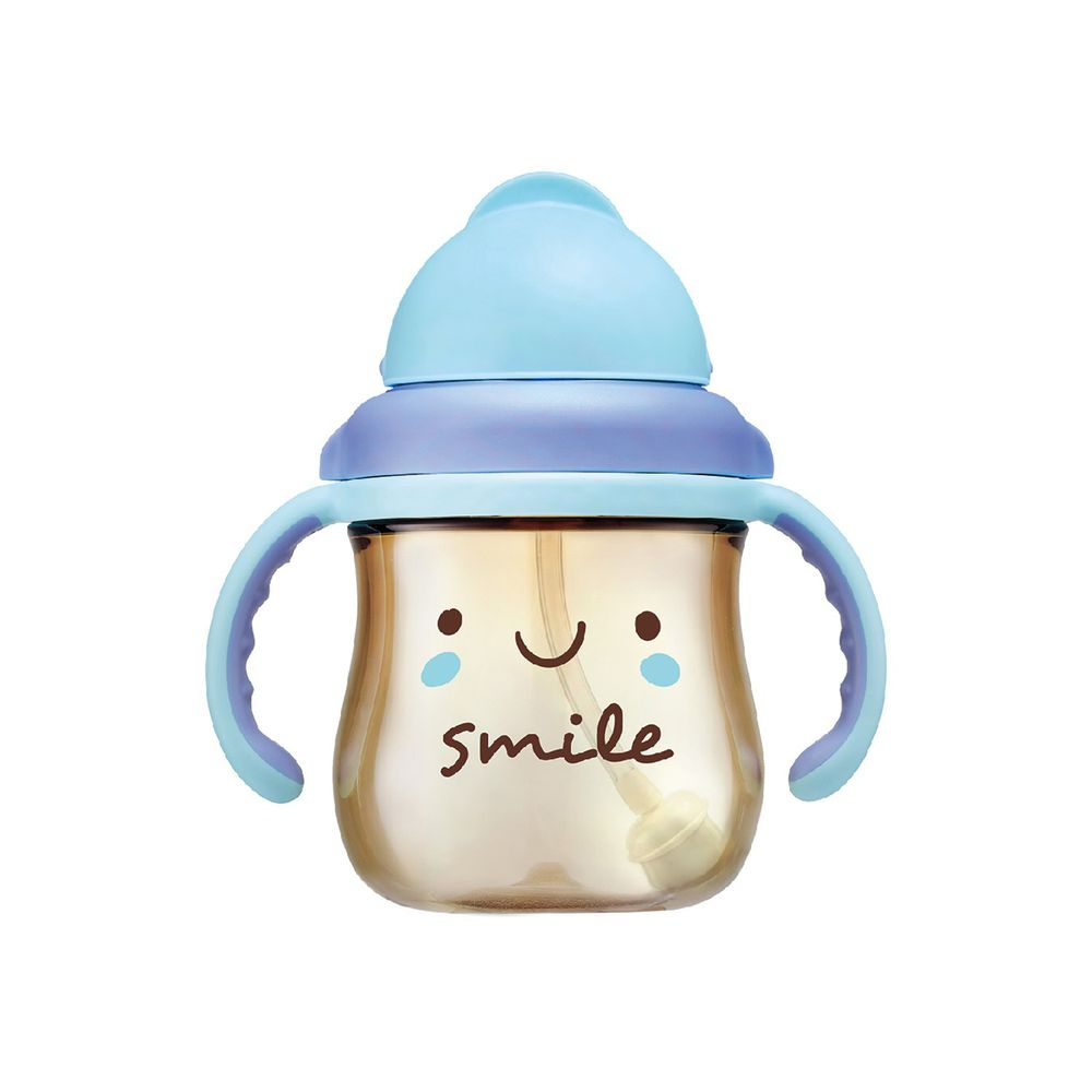 Simba 小獅王辛巴 - 好心情PPSU滑蓋杯-燦爛微微笑-藍色-250ML