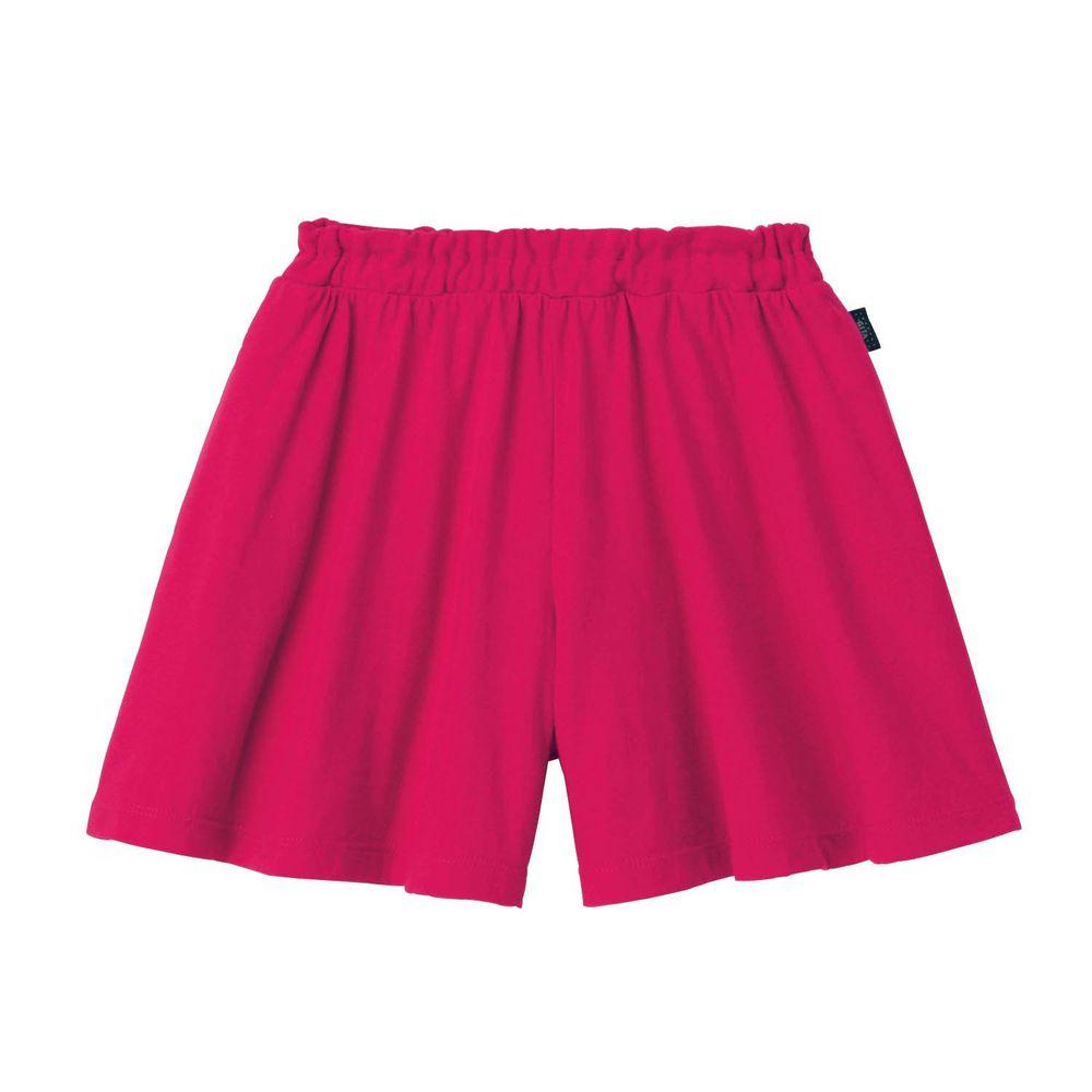 日本千趣會 - GITA 純棉輕薄舒適傘狀短褲裙-素色-桃粉