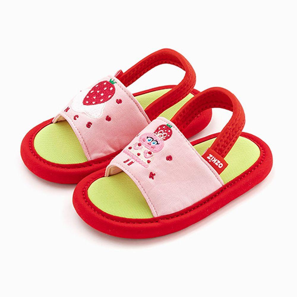 韓國 OZKIZ - 消音防滑室內鞋-鬆緊帶款(布萊德理髮廳)-紅