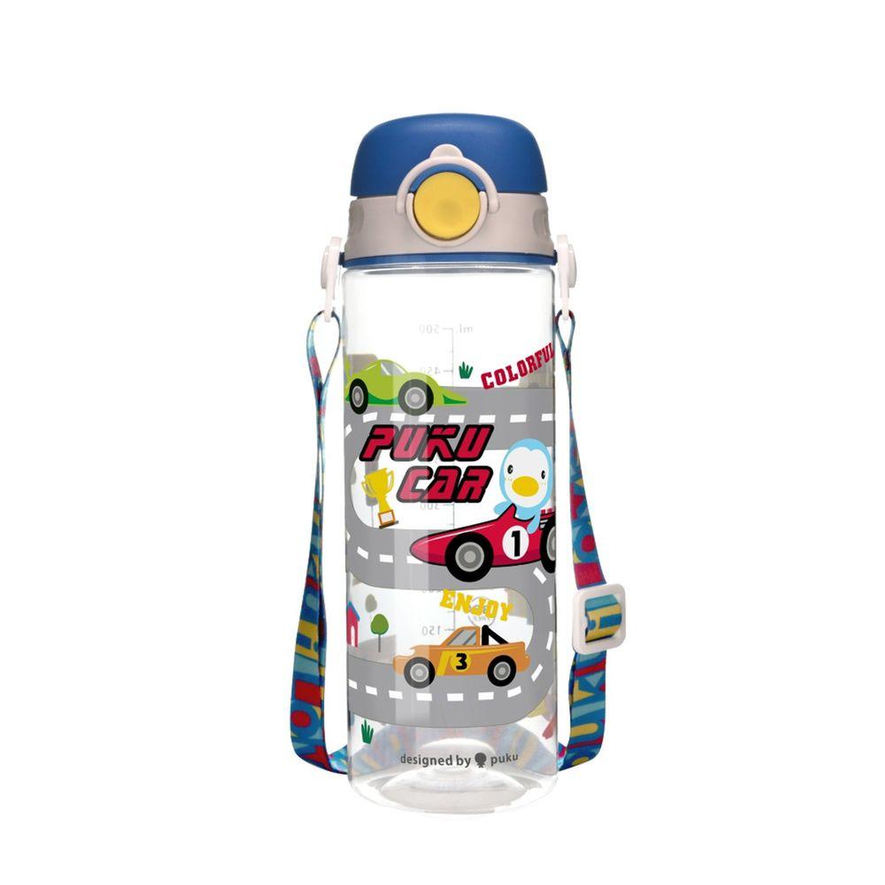 PUKU 藍色企鵝 - Tritan直飲水壺-賽車藍-500ml