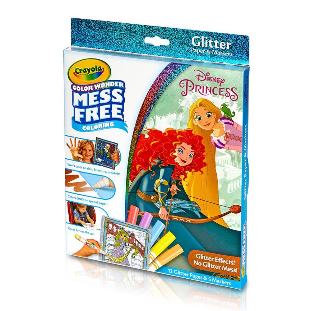 Crayola繪兒樂 - 神彩著色套裝-迪士尼公主(閃亮版)