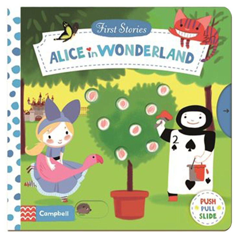 Macmillan - First Stories 操作硬頁書-Alice in Wonderland 愛麗絲夢遊仙境-彩色