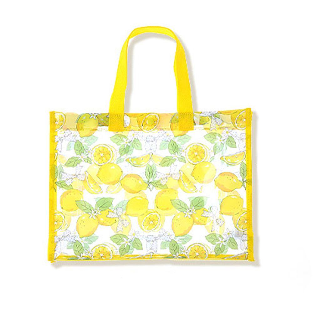 日本 ZOOLAND - 防水PVC手提袋/游泳包-A清新檸檬-黃 (25x34x11cm)