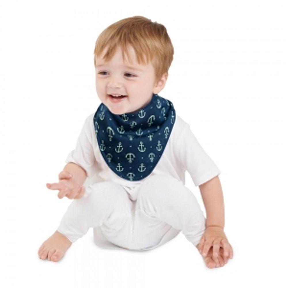 Mum 2 Mum - 雙面時尚造型口水巾圍兜-海軍風/薄荷綠