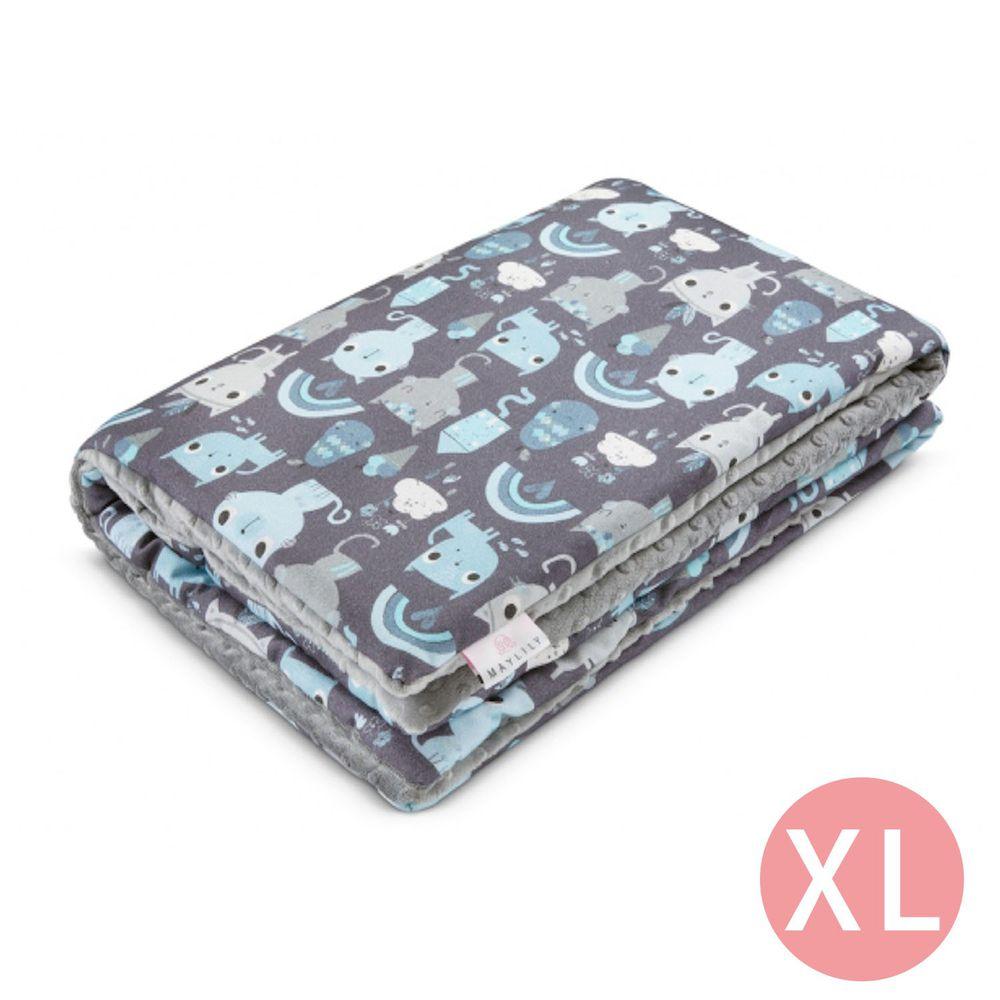 maylily - 竹纖維魔術顆粒輕柔毯(厚,有內胎)-印地安藍貓 (XL)-150x110cm