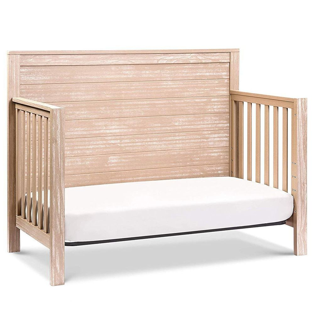 Rockland - 仿古泰勒4合1成長床-贈10cm床墊-卡其色 (130X70)