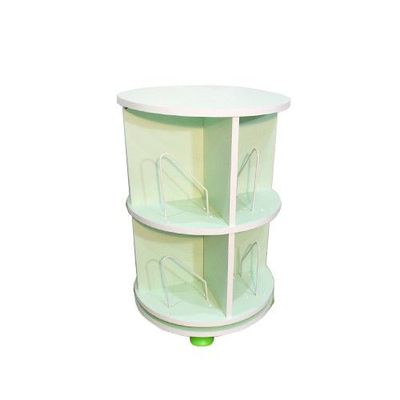 360° 旋轉書櫃-二層式-蘋果綠-支架8入+水平儀4入