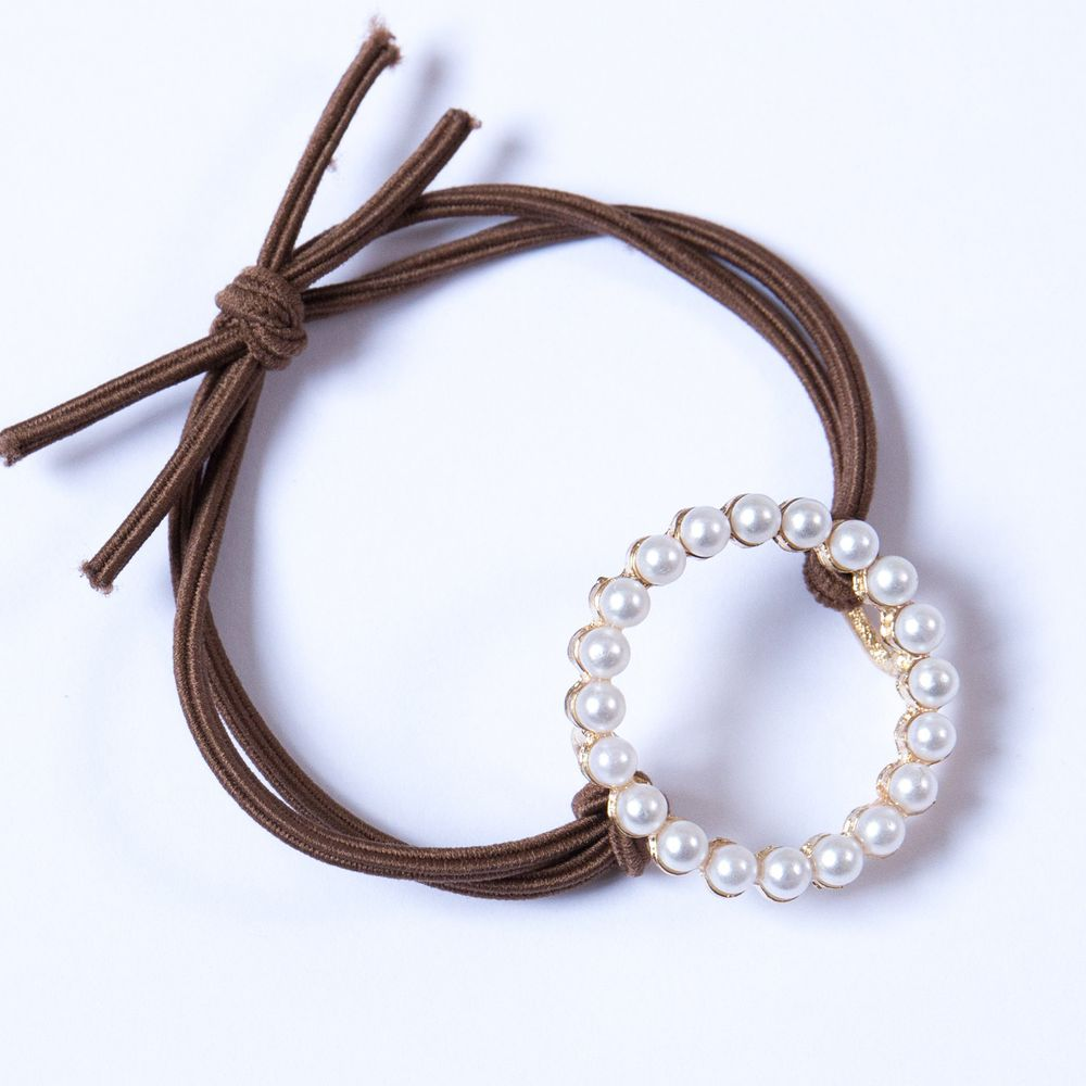 珍珠髮圈-圓圈
