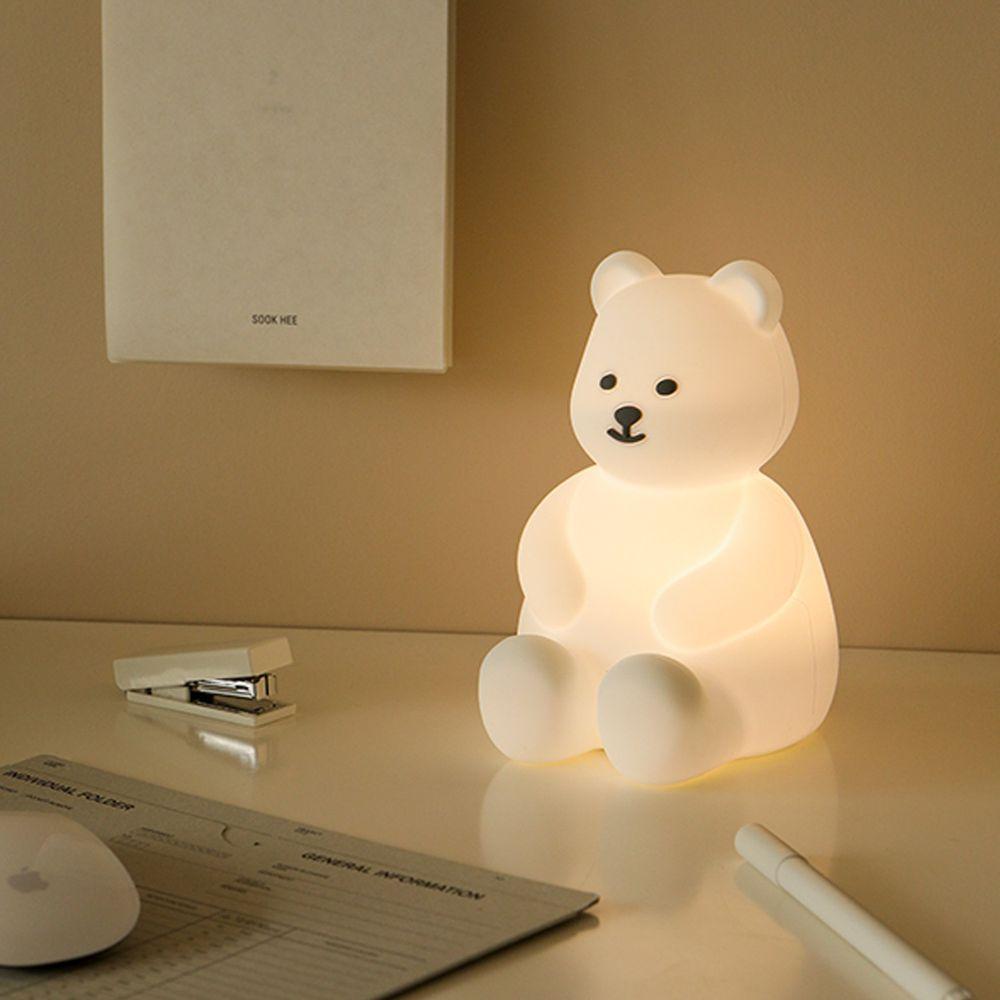 韓國 Daily Like - 5色燈光療癒小夜燈-果凍熊 (102X117X154mm)