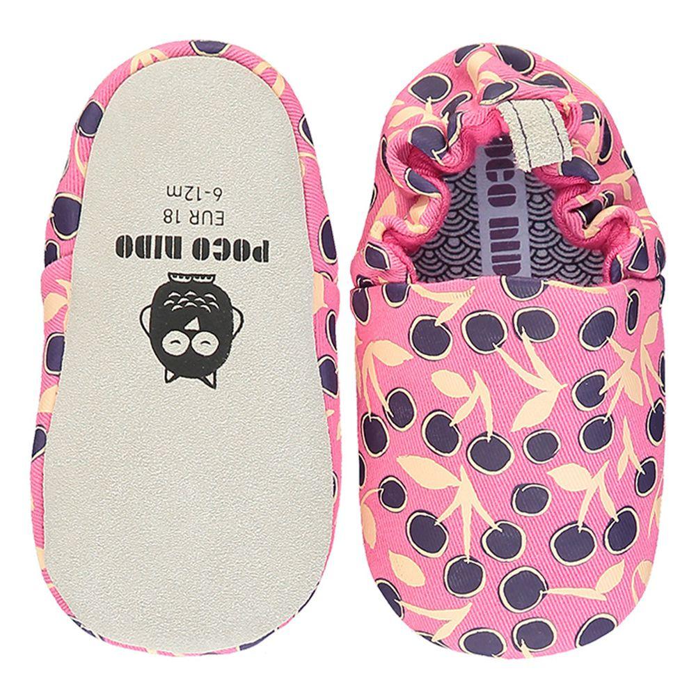 英國 Poconido - 寶寶手工鞋/學步鞋-小小粉莓