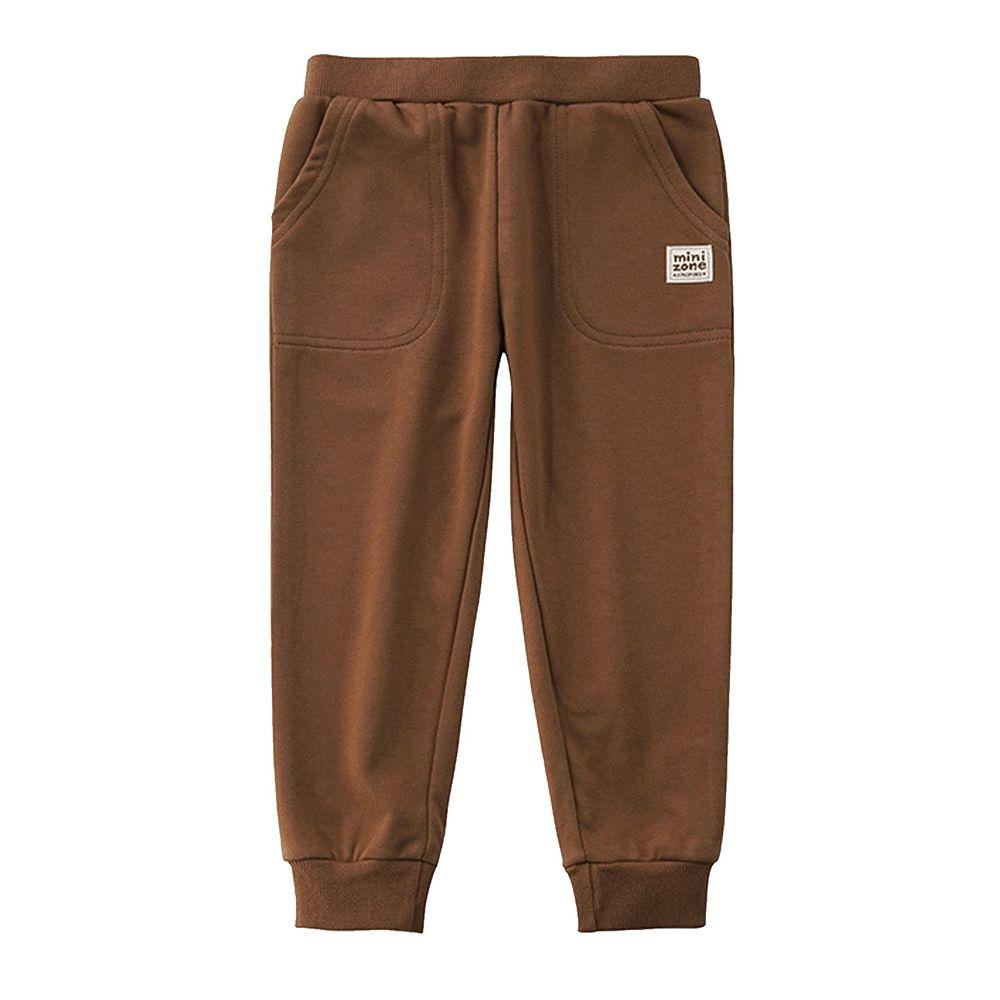 Minizone - 大口袋運動褲-咖啡色