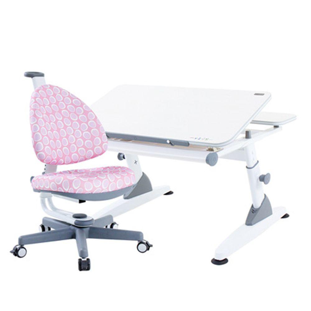大將作 kid2youth - M2+XS 成長桌椅組(BABO C)-粉紅