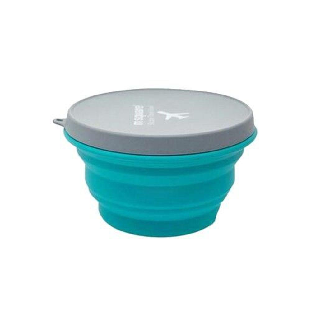 m square - 摺疊矽膠碗 L-藍色-1000ml