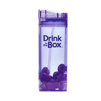 Tritan兒童戶外方形吸管杯-紫色 (355ML)
