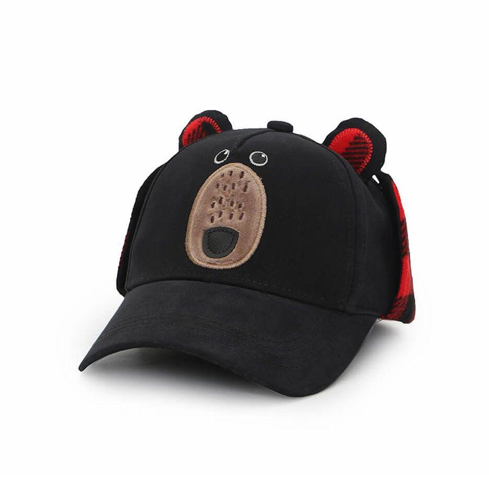 加拿大 flapjackkids - 3D造型遮耳棒球帽-小熊 (2y-4y)