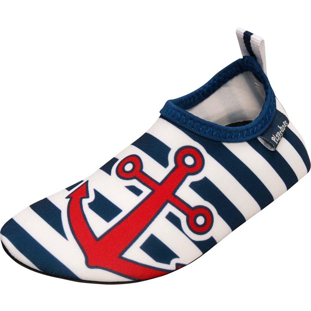德國Playshoes - 抗UV水陸兩用沙灘懶人童鞋-海軍風