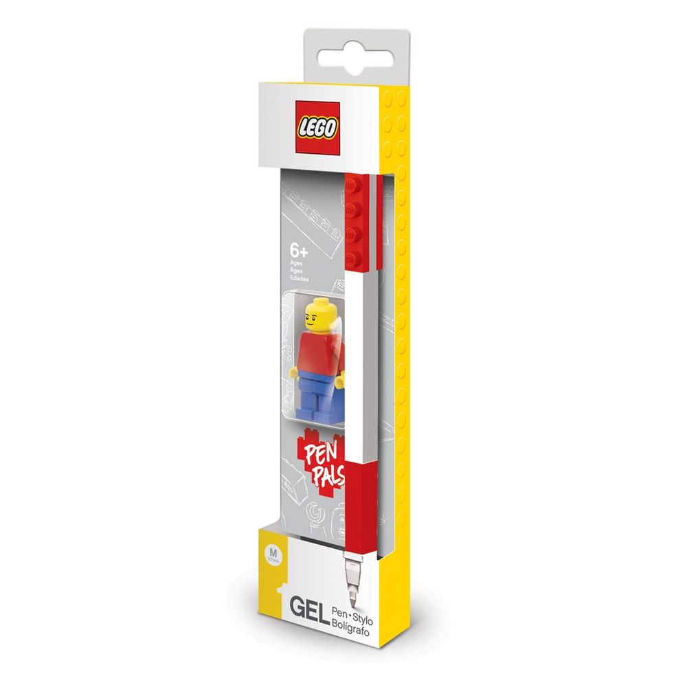 樂高 LEGO - LEGO 積木原子筆-紅色-附樂高人偶-筆長15.7公分