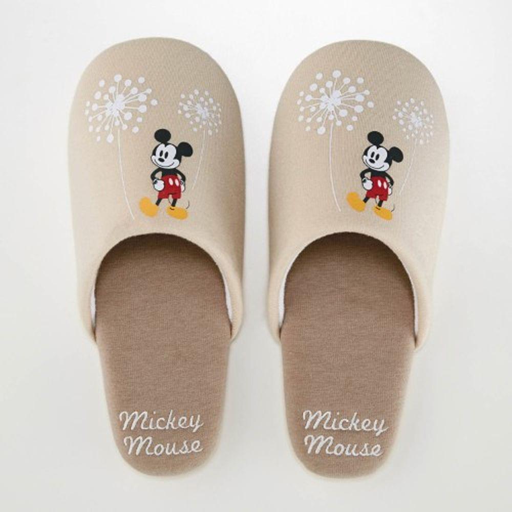 日本千趣會 - 迪士尼室內拖鞋-米奇蒲公英-杏
