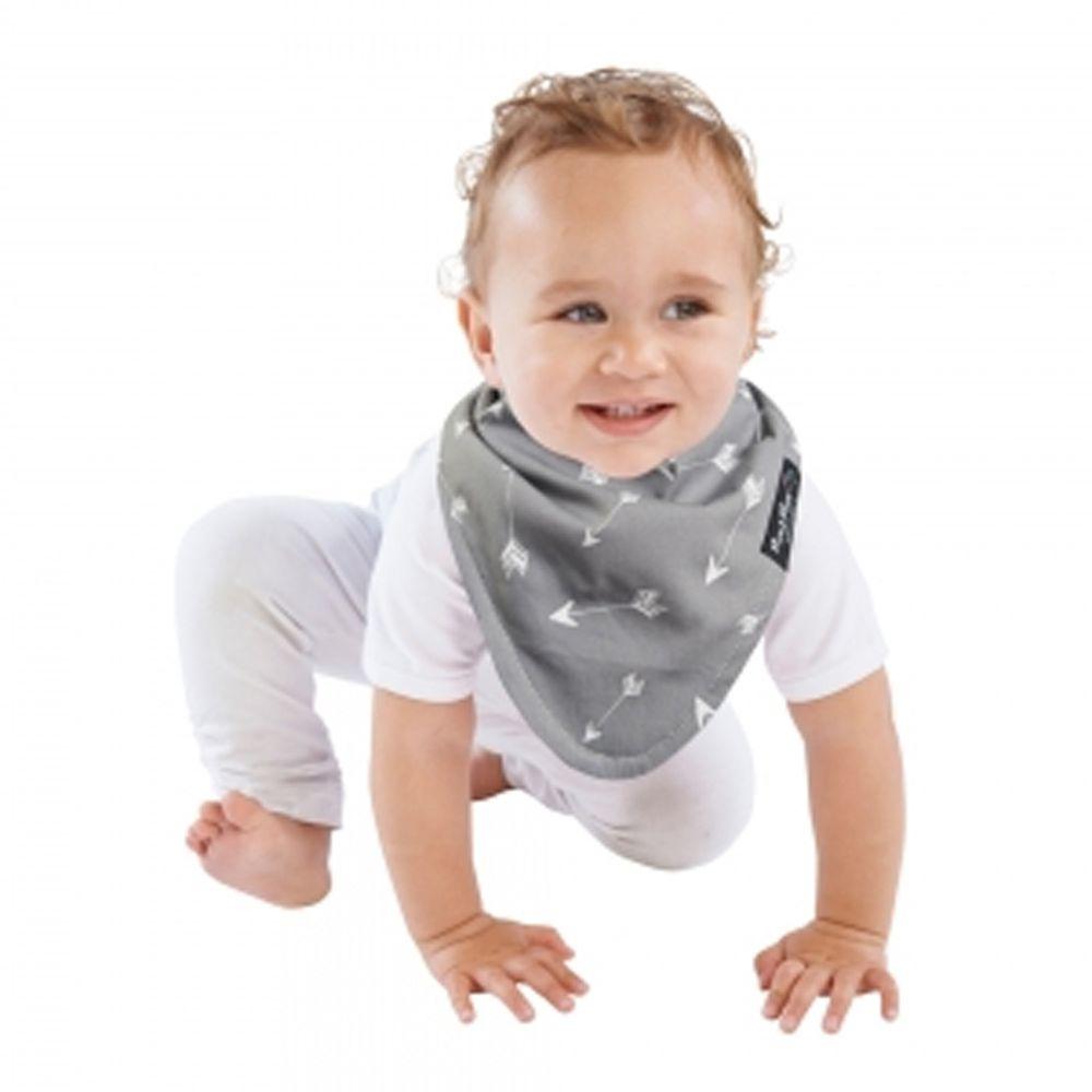 Mum 2 Mum - 雙面時尚造型口水巾圍兜-愛神箭/灰
