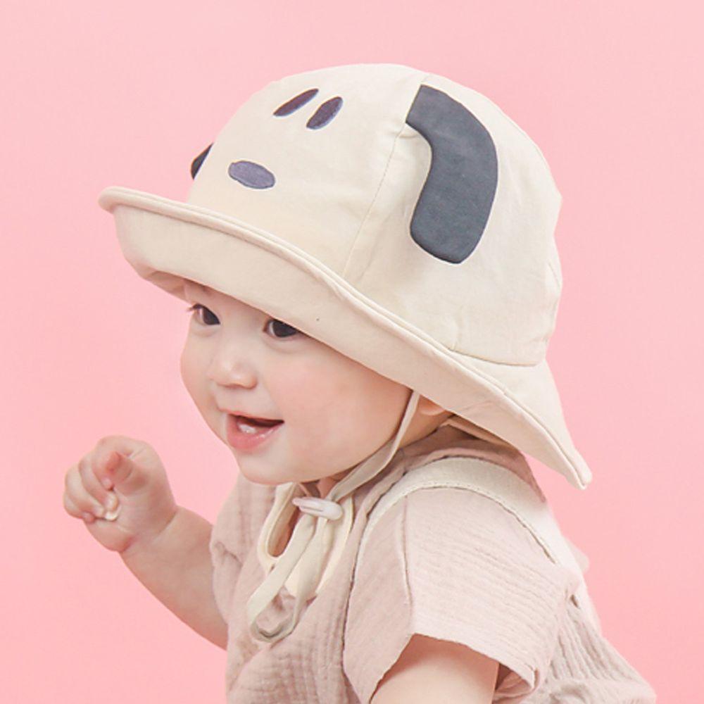 韓國 Babyblee - 小狗狗遮陽帽-杏 (頭圍:52cm)