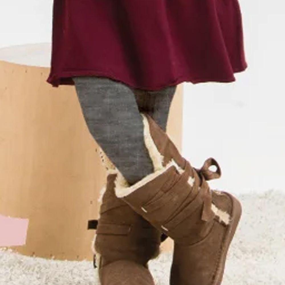 貝柔 Peilou - 女童精梳棉義式對目褲襪-淺灰
