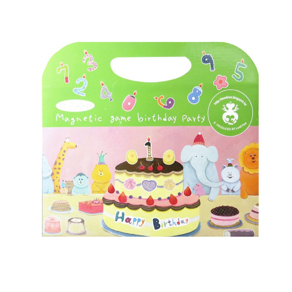 Babytiger - 手提包磁鐵書-生日派對