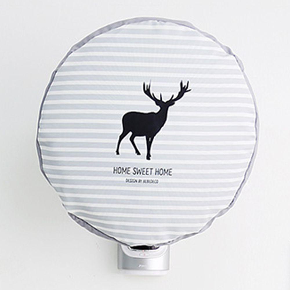 韓國 Bebe Deco - 可水洗電風扇收納套(圓形)-黑影麋鹿 (47*47cm)