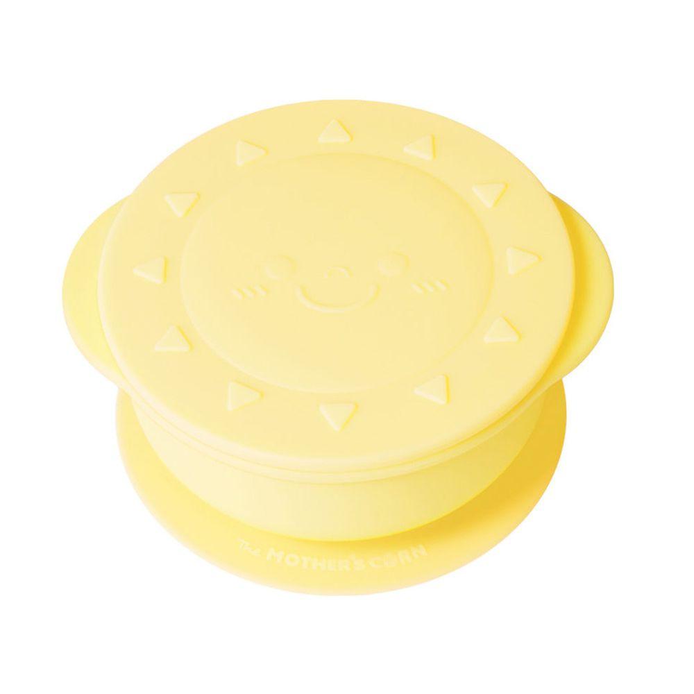 韓國 Mother's Corn - 小太陽矽膠餐碗-鵝蛋黃-1入