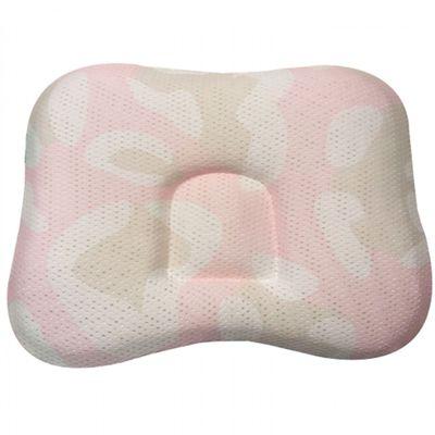 透氣嬰兒定型枕 0~18個月-中間為方形-粉色 (23 x 33 x 3cm)