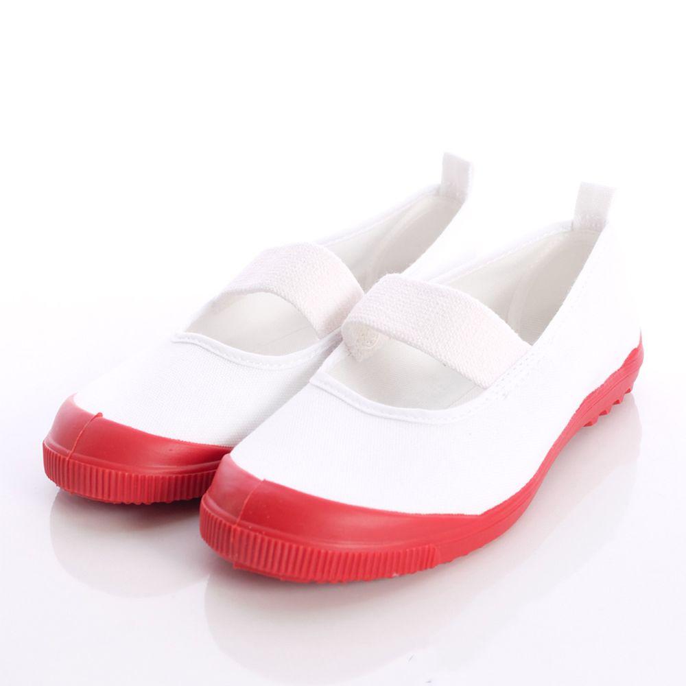 Moonstar日本月星 - 日本月星機能童鞋-日本製冠軍室內鞋鐵氟龍版(中小童段)-白紅