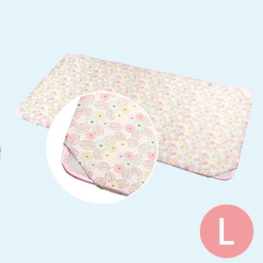 韓國 GIO Pillow - 智慧二合一床套-粉漾花朵 (L號)