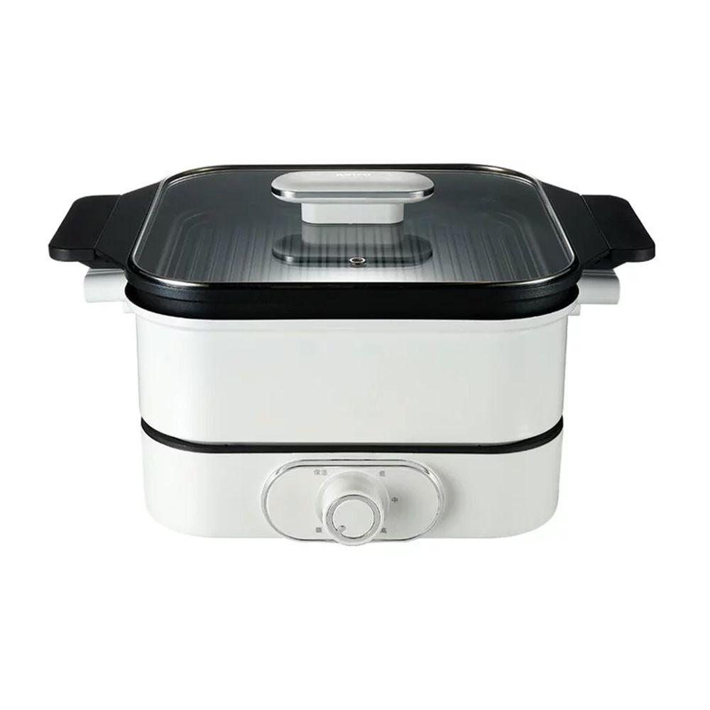 KINYO - 多功能料理鍋 (BP-085)-白色 (W342xH255xD190mm)