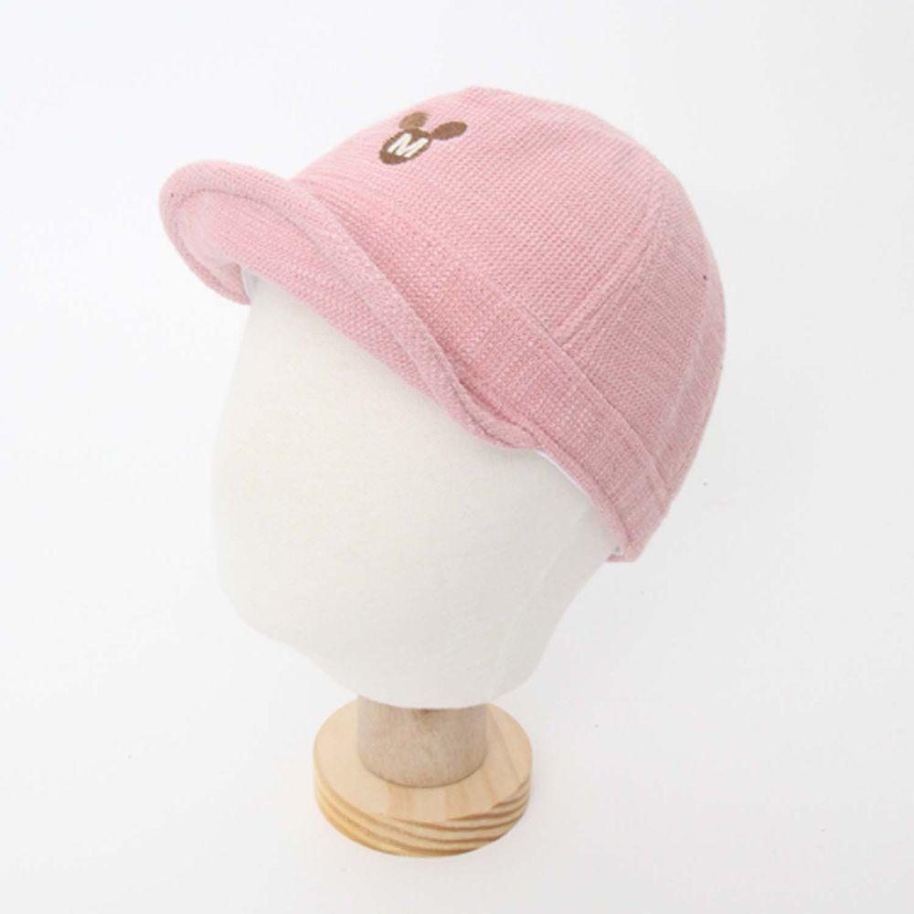 韓國 Babyblee - 小米奇燈芯絨棒球帽-粉紅 (FREE)