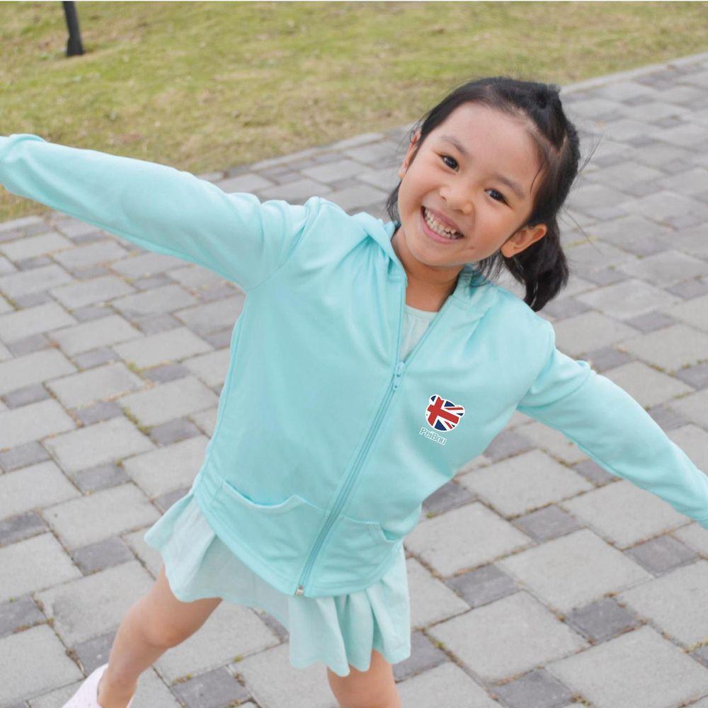 貝柔 Peilou - 3M高透氣抗UV防曬連帽外套_兒童-藍綠