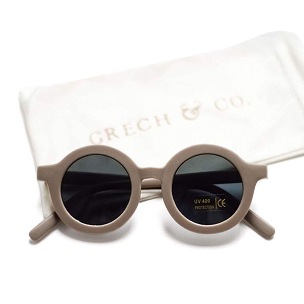 丹麥GRECH&CO - 兒童太陽眼鏡-經典款-卡其-18個月至6歲