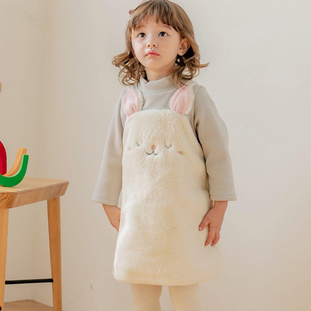 韓國 Bebezoo - 假兩件絨毛兔兔洋裝