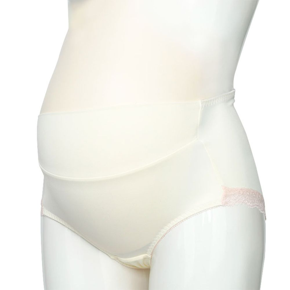akachan honpo - 孕婦內褲 產後也可穿-蕾絲-米白色