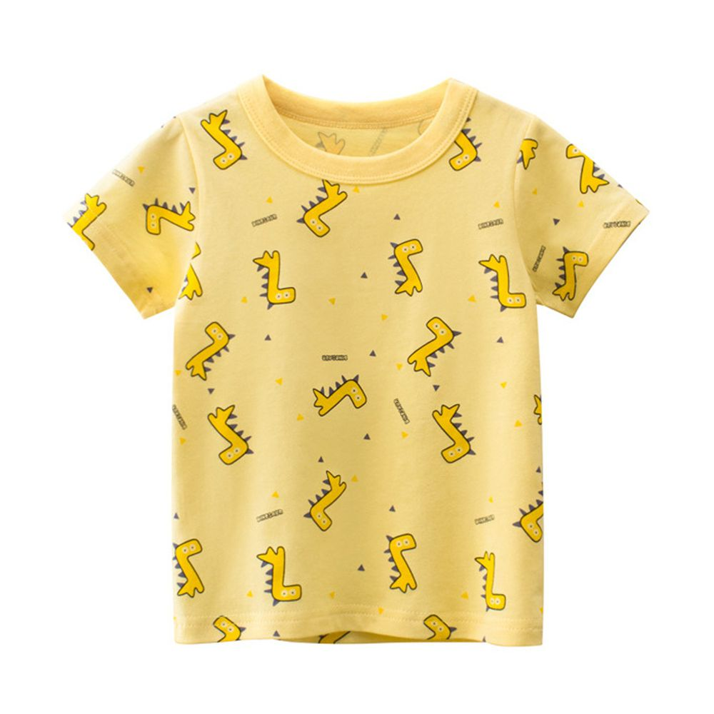 短袖棉T-黃色小恐龍