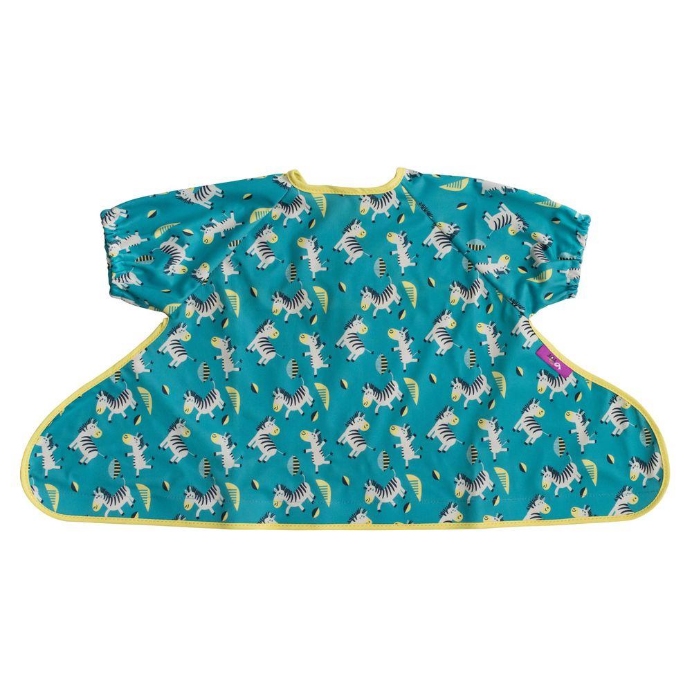 英國Tidy TOT - 防水圍兜(短袖)-可愛斑馬
