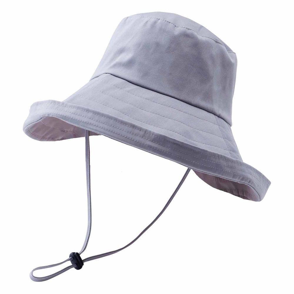 日本小泉 - UV cut 99% 涼感 大帽簷遮陽帽-防潑水-灰 (可調頭圍~58cm)