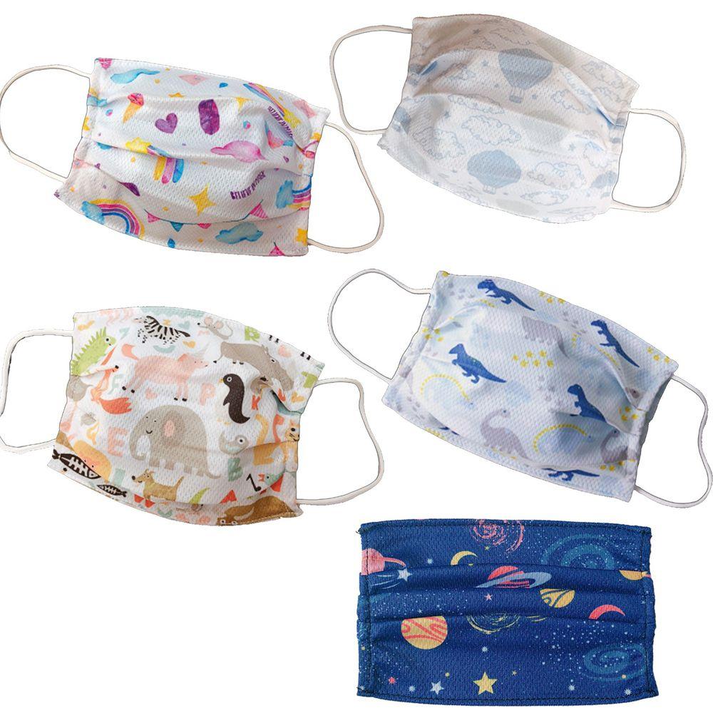 代思沐 - 口罩套-兒童款-動物園*1+恐龍世界*1+彩虹雲*1+熱氣球*1+太空人*1
