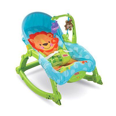 美國Fisher-Price 費雪 - 費雪可愛動物可攜式兩用安撫躺椅