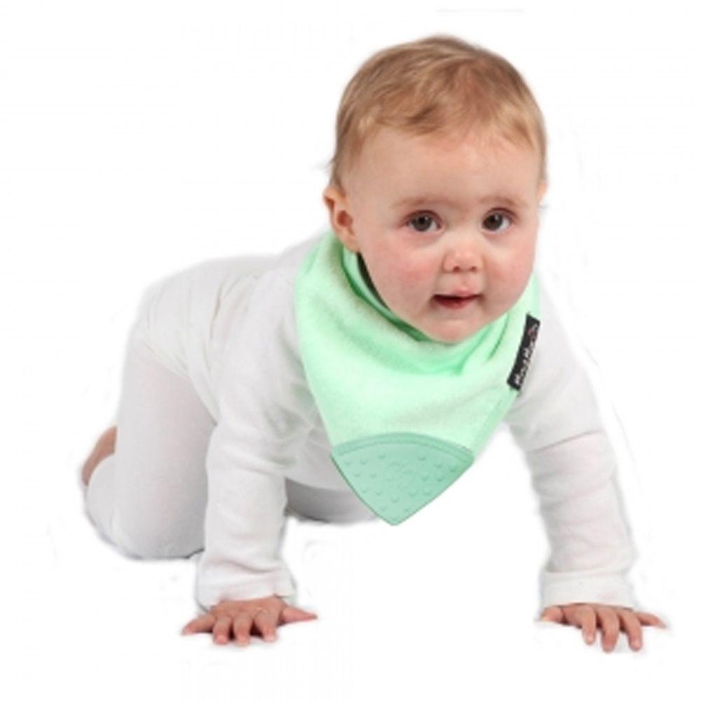 Mum 2 Mum - 機能型神奇三角咬咬兜口水巾圍兜-薄荷綠