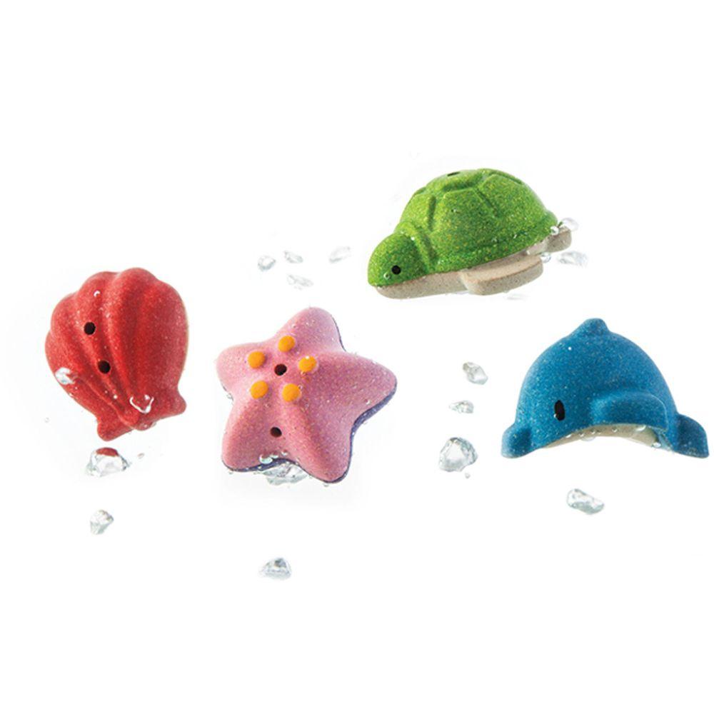泰國 Plantoys - 木作水玩具-海底動物4件組