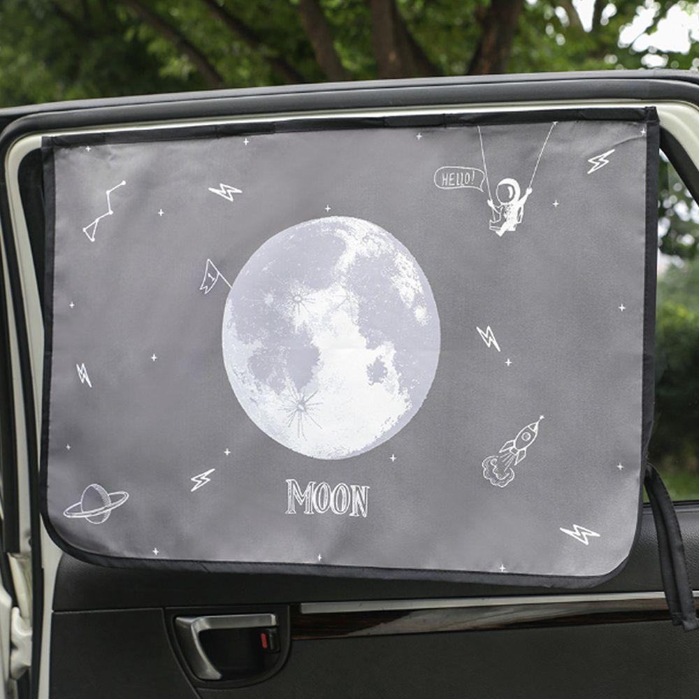 韓國 Bebe Deco - 三層遮光磁鐵遮陽窗簾-寂靜月光 (65*45cm)