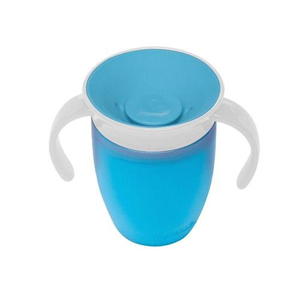 美國 munchkin - 360度防漏練習杯207ml-藍 (6M+)